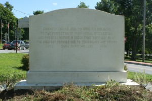 Emma Willard Memorial - Back View