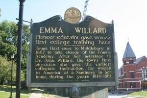 Emma Willard Historic Site Marker