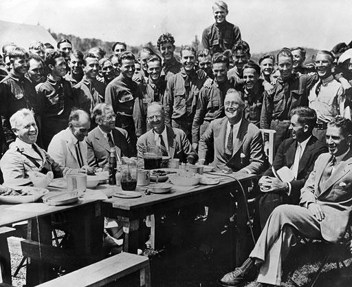 FDR at CCC camp, Shenandoah Park