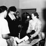 Eleanor Roosevelt visits Kaiser-Permanente northern hospital