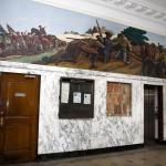Ross Moffett 1937 mural in former Union Square Post Office in Somerville, Mass.