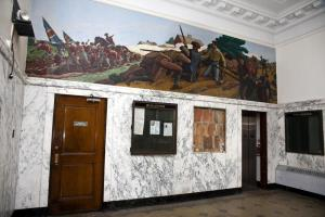 Ross Moffett 1937 mural in former Union Square Post Office in Somerville, Mass.