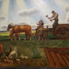 """John Steuart Curry, """"Homestead and barbed wire fence"""", Dept of Interior - Washington DC"""