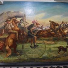"John Steuart Curry, ""The Okahoma Land Rush,"" Dept of Interior - Washington DC"