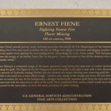 Plaque for Ernest Fiene murals, Dept of Interior - Washington DC