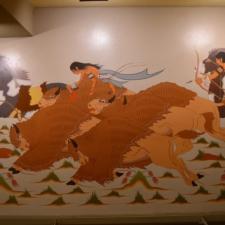 "WoodrowCrumbo ""Buffalo Hunt"",Udall Interior Building - Washington DC"