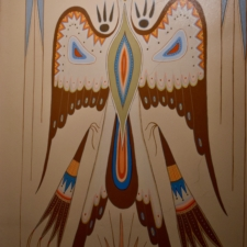 "Woodrow Crumbo ""Peyote Bird"",Udall Interior Building - Washington DC"