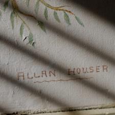 "Allan Houser Signature on ""Apache Round Dance"",Dept of Interior - Washington"