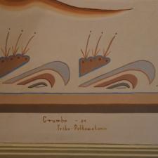 Woodrow Crumbo signature, Udall Interior Building - Washington DC
