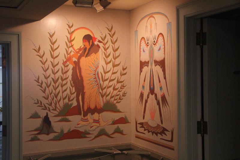 "Woodrow Crumbo ""Flute Player"" and ""Peyote Bird"",Udall Interior Building - Washington DC"