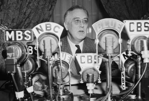 "In thirty ""fireside chats"" he delivered between 1933 and 1944. Roosevelt appealed to radio listeners for help getting his agenda passed."