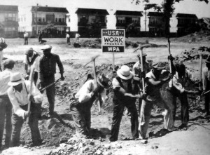 Newark, NJ: WPA workers constructing a park