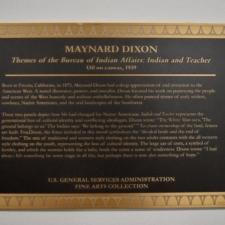 "Plaque for Dixon's ""Themes of the Bureau of Indian Affairs"" murals, Dept of Interior - Washington DC"