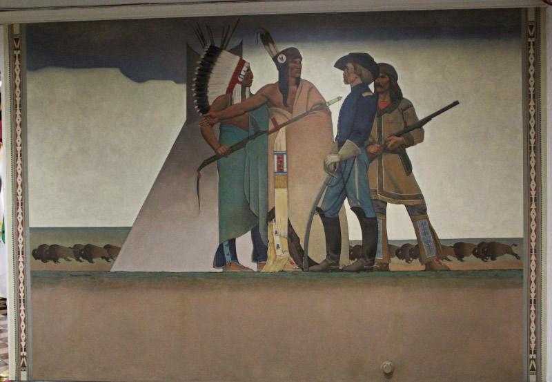 "Maynard Dixon ""Indian and Soldier"" Dept of Interior - Washington DC"