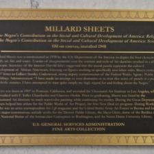 Plaque for Millard Sheets Murals, Dept of Interior - Washington DC