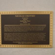 Plaque for Nicolai Civkovsky murals, Dept of Interior - Washington DC