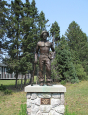 Statue to CCC boys in front of CCC museum - North Higgins Lake MI