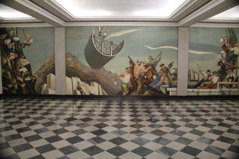 Department Of The Interior Building Gropper Murals Washington Dc