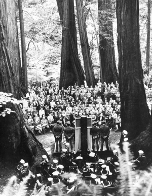 U.N. delegates honored the late president at Muir Woods.