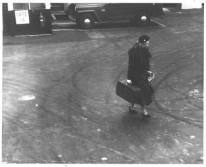 Mrs. Roosevelt with Suitcase