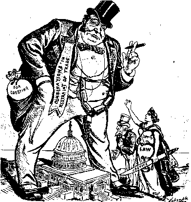 the evils of the robber barons and the laissez faire capitalism of the 19th century The alternative: an american spectator 9 the myth of the 19th century robber baron it was an era with the closest approximation to pure economic laissez-faire.
