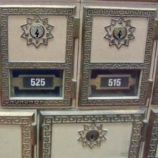 Detail of mailboxes,Post Office - Keyser WV