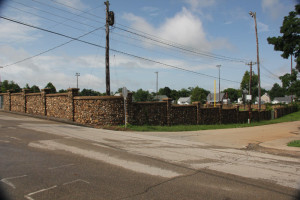 High School Bleachers and fence, Fredericktown, MO