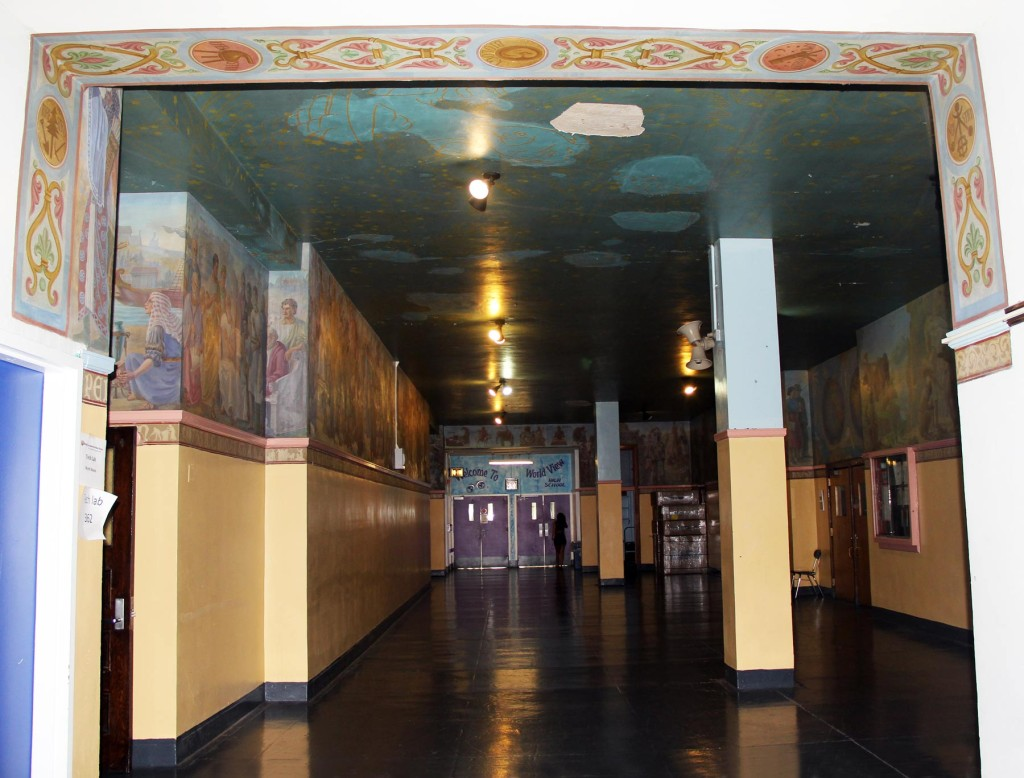 Alfred Floegel's 'History of the World' mural at DeWitt Clinton HS, NYC