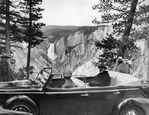 FDR at Yellowstone National Park, 1937