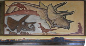 Kemmerer Wyoming Post Office mural by Eugene Kingman