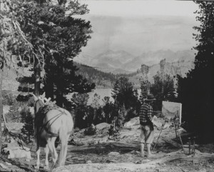 Eugene Kingman painting plein air in the Sierra