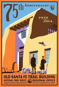 Old Santa Fe Trail Building Anniversary Poster