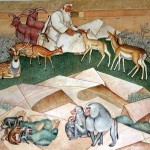 """Detail from the """"Mother's Building"""" mural"""