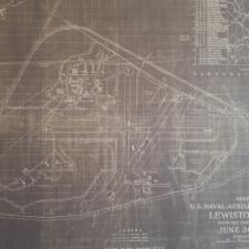 Map of the Auburn/Lewiston Municipal Airport - Auburn ME