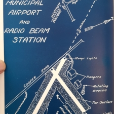 1936 Town Report Illustration of Bangor Airport and Radio Beam