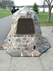 A monument to those CCC'ers who lost their lives on duty.