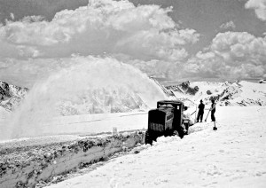 CCC Clearing Snow in Rocky Mountain National Park, 1933