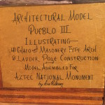 Signature on the back of a CWA model.