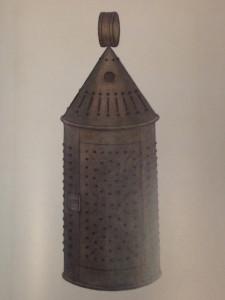 A tin lantern.