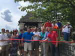 Cutting the ribbon on the newly-reopened Jensen's Point