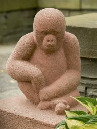 Restored monkey sculpture