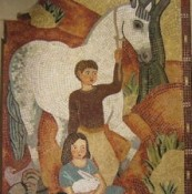 "Mosaic ""Children and Their Animal Friends,"" by Esther, Helen, and Margaret Bruton"
