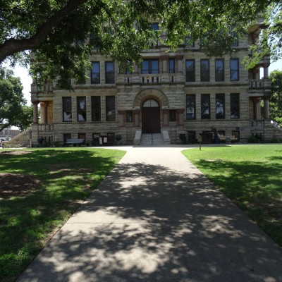 Denton County Courthouse, South sidewalk