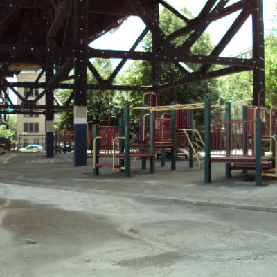 St. Mary's Park Playground, under the train tracks