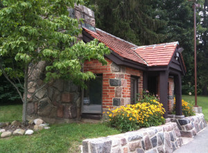 The former gatehouse was built by the CCC using native materials.