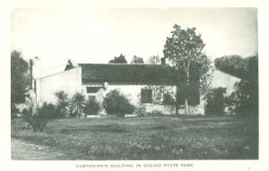 Postcard: Custodian's Building in Goliad State Park