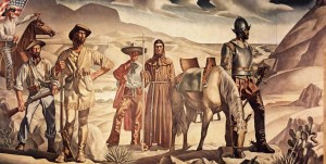 Tom Lea, Pass of the North, mural, 1938. Oil on canvas, 11 x 54 feet, U.S. Courthouse, El Paso, Texas. Commissioned through the Section of Fine Arts, 1934-1943. Fine Arts Collection, U.S. General Services Administration. Image courtesy of the Tom Lea Institute.