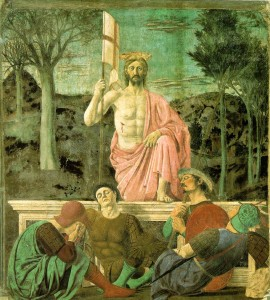 Piero della Francesca, Resurrection, c. 1460, mural, Museo Civico (formerly Town Hall), Borgo Sansepolcro, Tuscany
