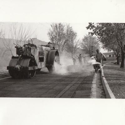 Road work at the Veteran's Hospital