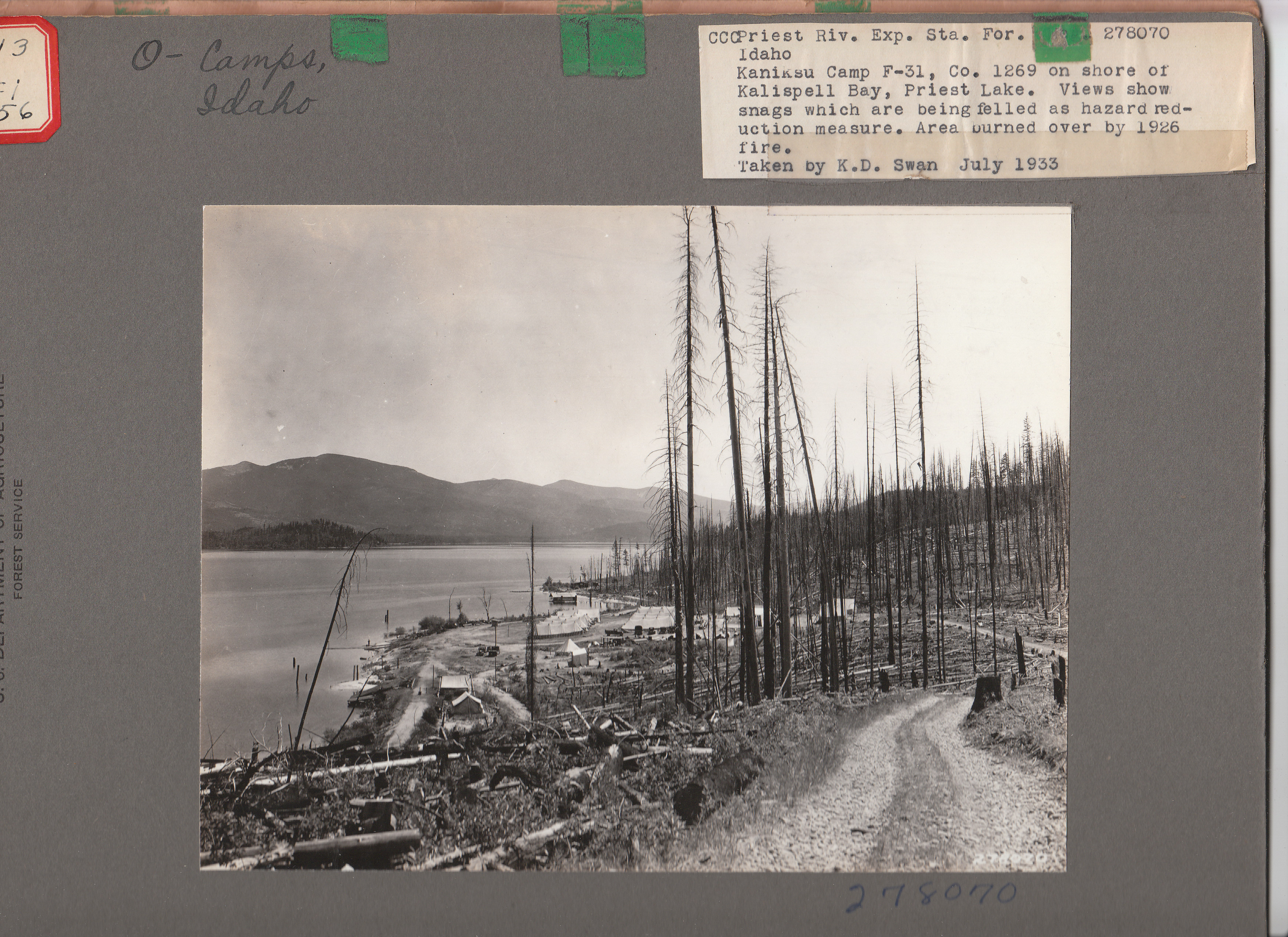 Priest Lake CCC Camp - Priest River ID - Living New Deal